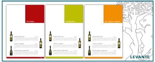 Levante vini hagen wein katalog 2009 design layout designgrill for Design katalog
