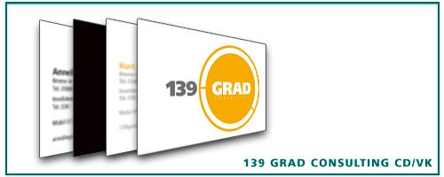 139 Grad Consulting Visitenkarten Corporate Design